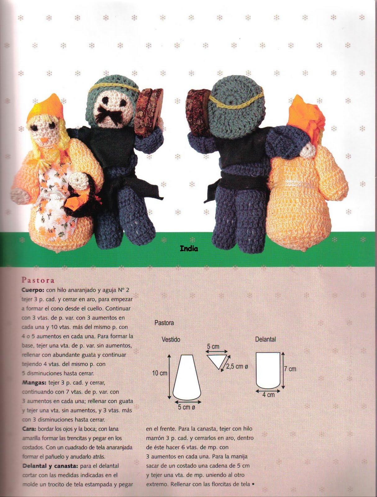 Patron de pesebre tejido a crochet.   elblogdelaindia
